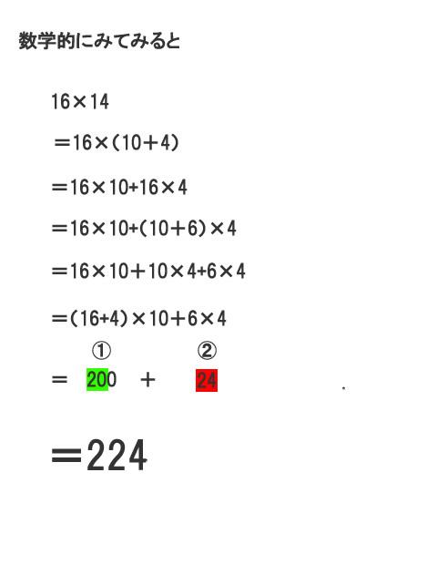 インド式数学10の台のかけ算
